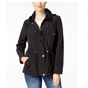 Charter Club black rain jacket